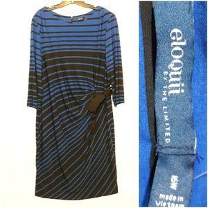 Eloquii Dresses - Eloquii Striped Dress